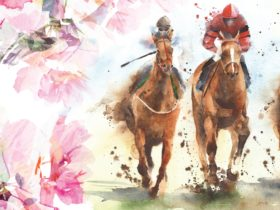 Flowers and horses for Melbourne Cup