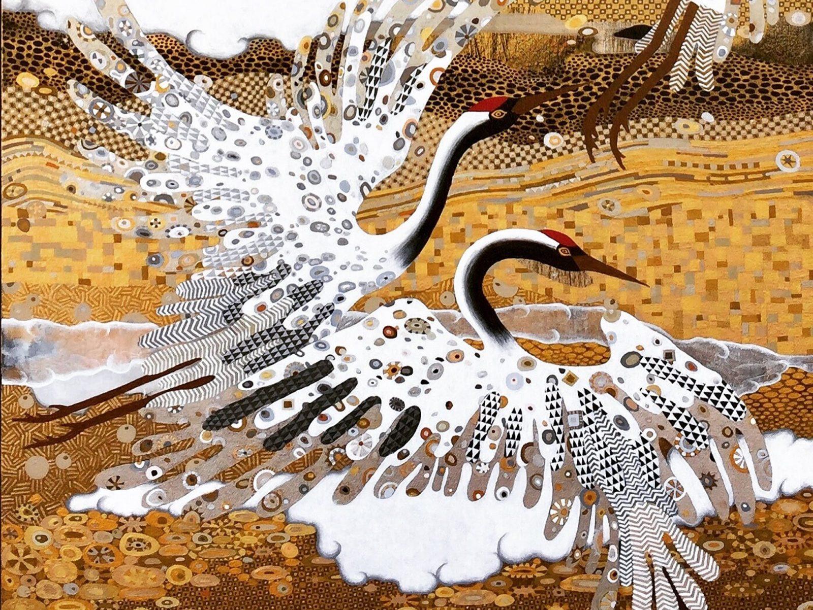 Cranes I (detail) by Melissa Barber