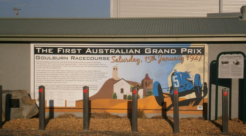 The memorial on Braidwood Road for the Australian Grand Prix