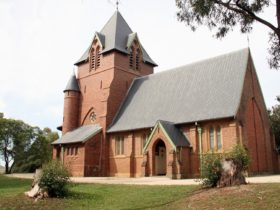 The St James Anglican Church in the historic village of Menangle, a heritage listed building