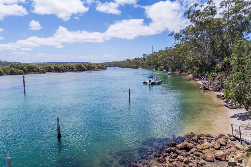 The nearby crystal clear waters of Currambene Creek (2 minute stroll away)