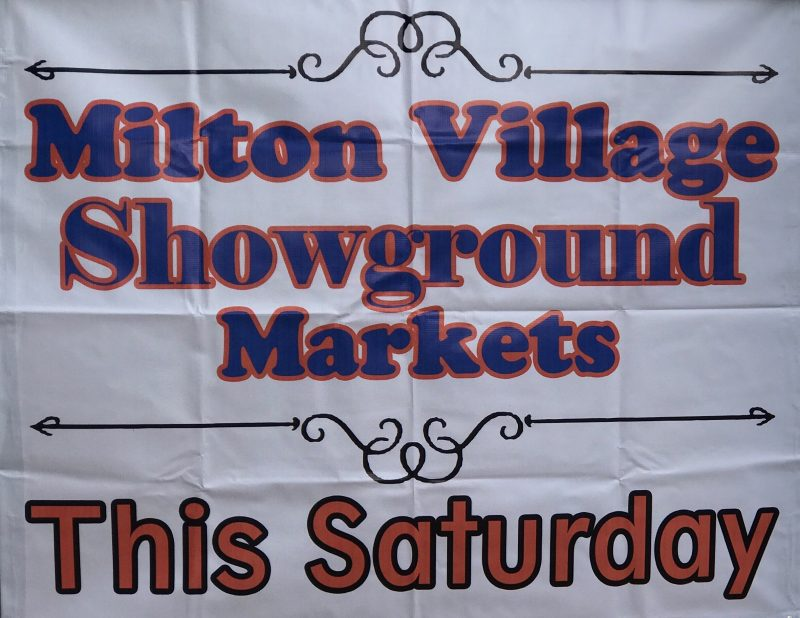 Milton Markets held 1st Saturday monthy, long weekends and Easter
