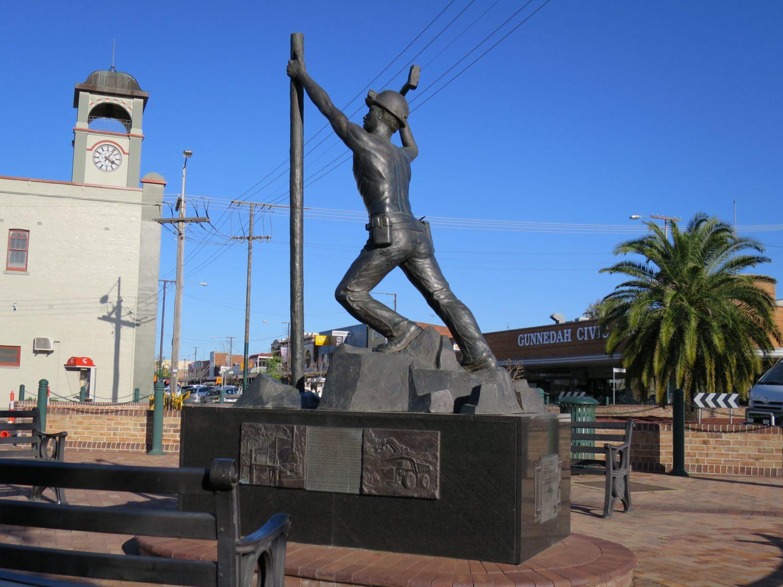 Miners Memorial Statue