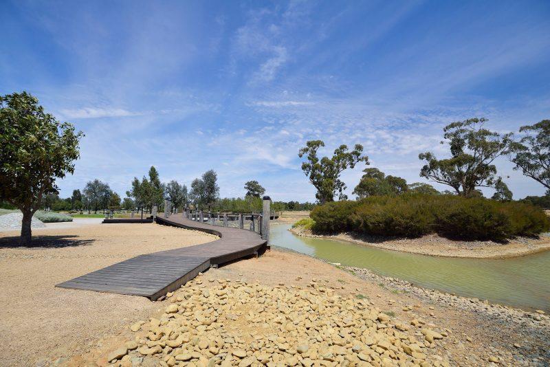 boardwalk along water