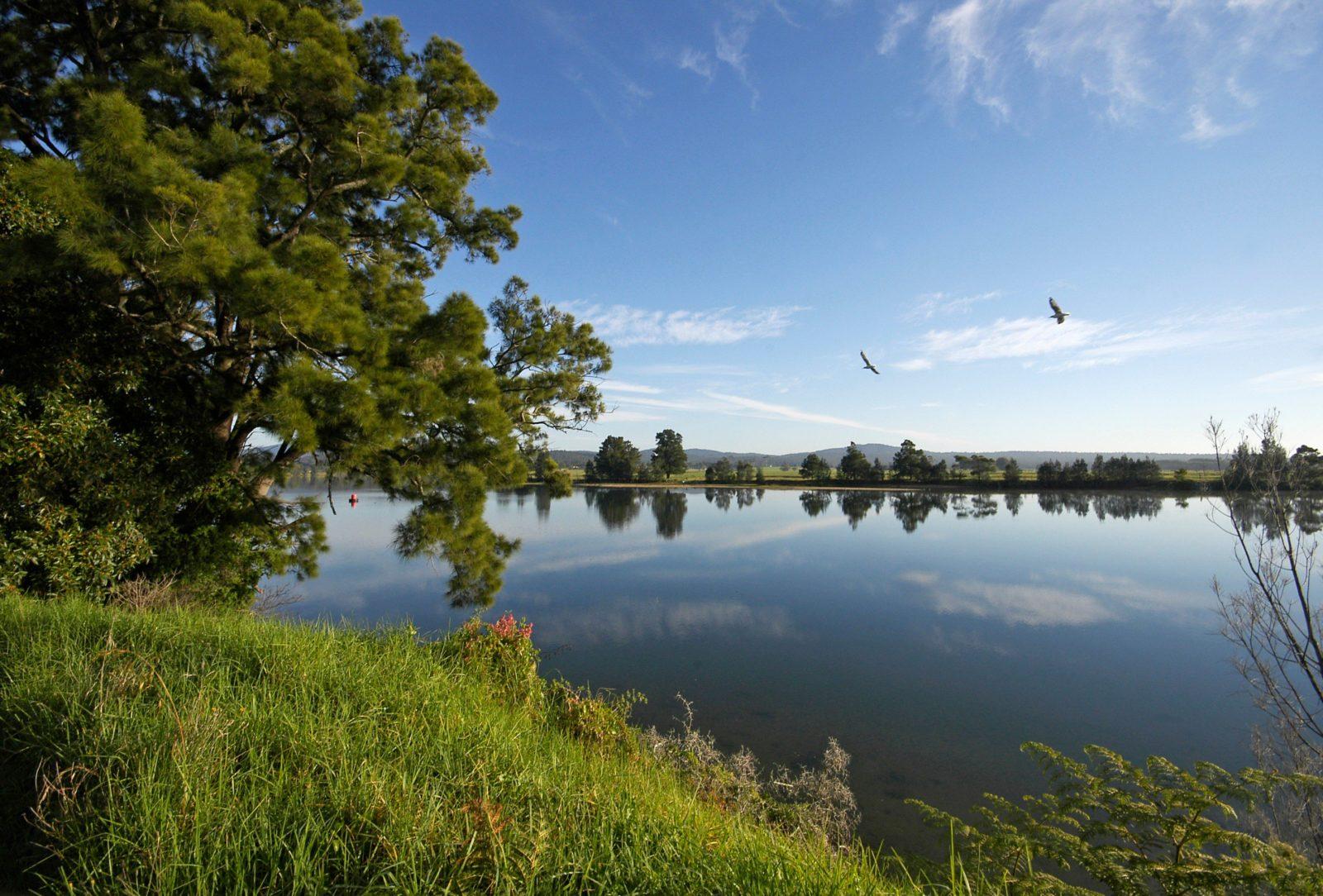 The town of Moruya sites on the banks of the Moruya River