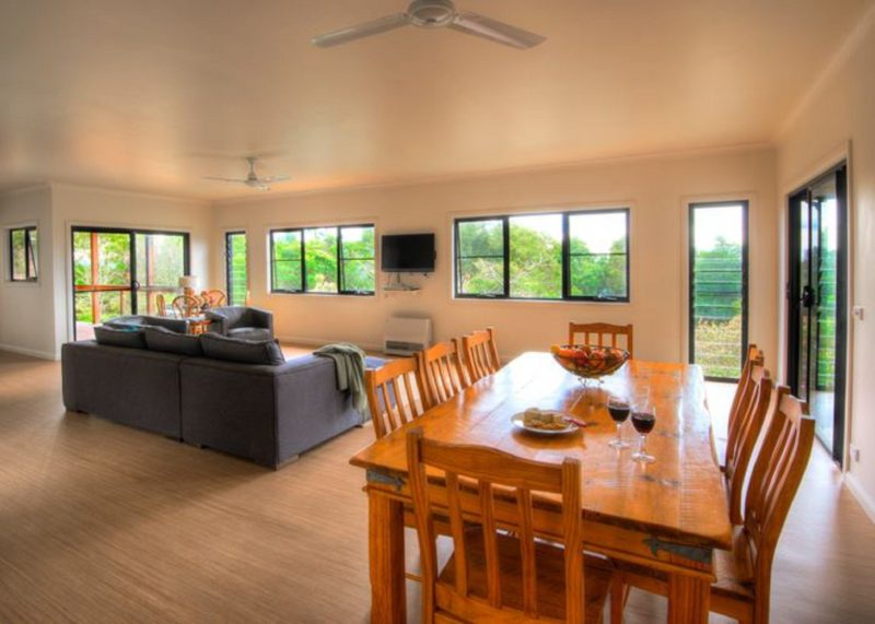 Fully equipped kitchen, dining and living area at Avalon apartment