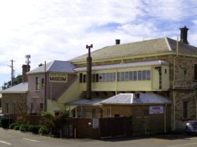 At the rear of the Mt Victoria railway station
