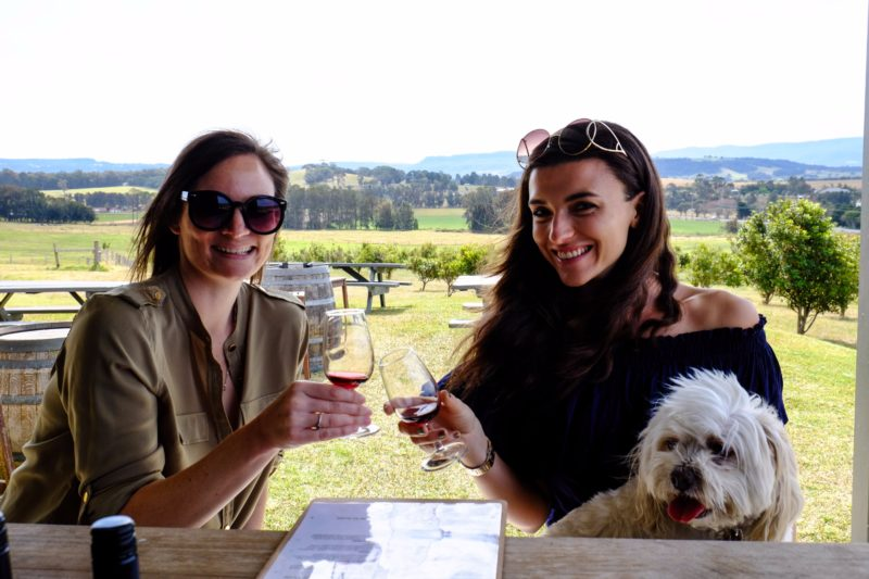 Wine tasting at Mountain Ridge Wines