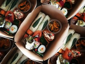 Gourmet Lunch Box including fresh local seafood