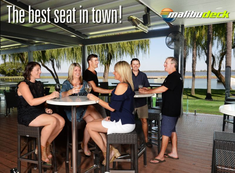 Located on the foresore of Lake Mulwala the Malibu Deck is the best seat in town.