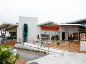 Entrance into the new Museum of Art and Culture Lake Macquarie