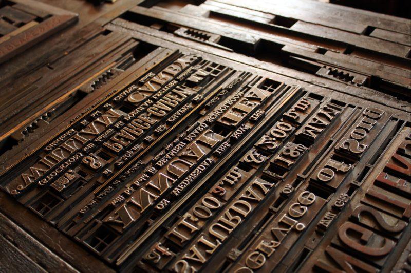 Print press loaded for printing