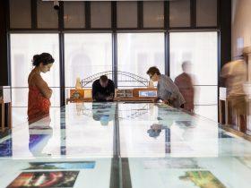 Displays inside the Museum of Sydney
