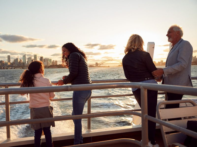 Sydney Harbour Sightseeing Cruise during Sunset