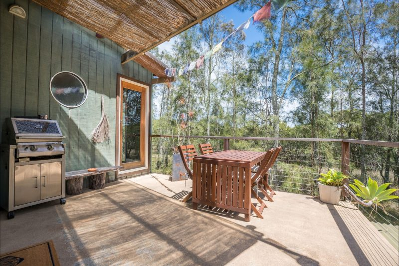 Enjoy relaxing in a range of outdoor deck areas around the retreat