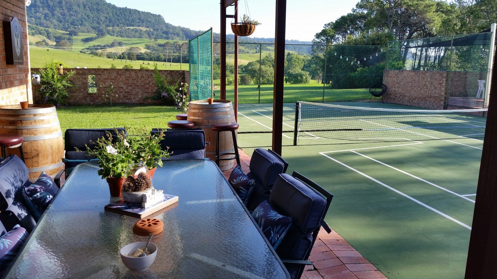 Tennis court and views