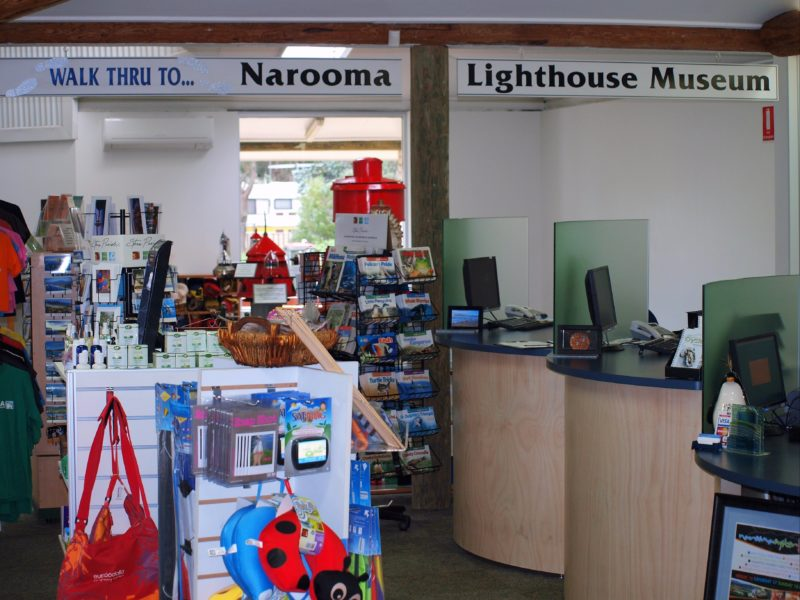 Local souvenirs for sale in Narooma Visitor Centre