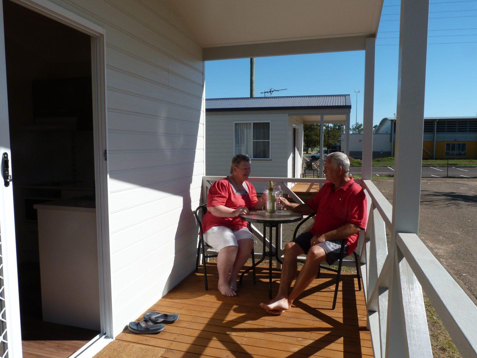 Narrabri Big Sky Caravan Park Cabin Deck
