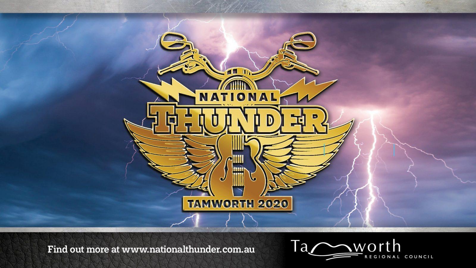 National Thunder Motorcycle Rally logo