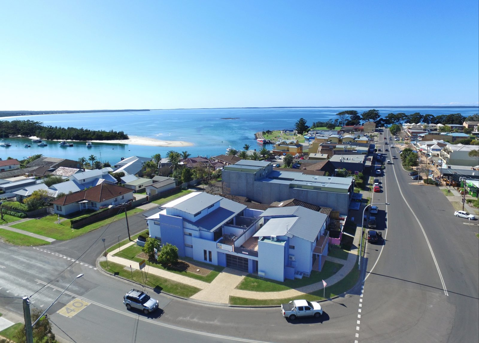 Aerial View of the Nautilus Apartments Complex