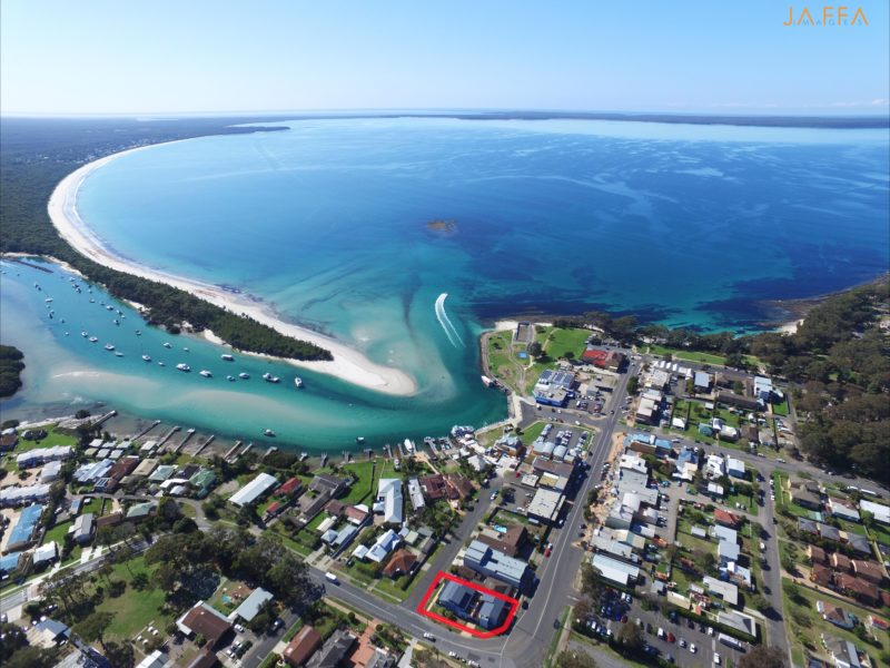 Aerial View of Huskisson and Nautilus Apartments