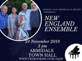New England Ensemble event card - 24 November 2019 3pm Armidale Town Hall