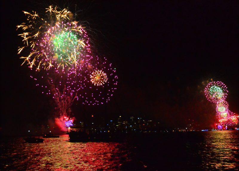 Fireworks on NYE from Pilgrim