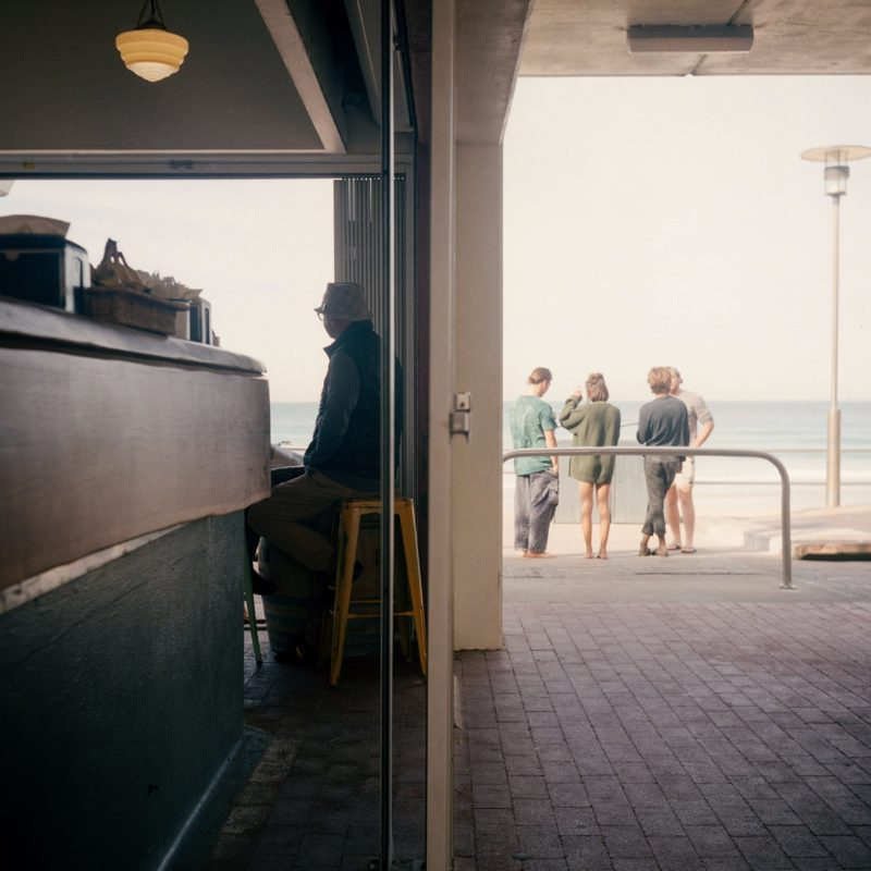 People watching the surf at Newcastle Kiosk