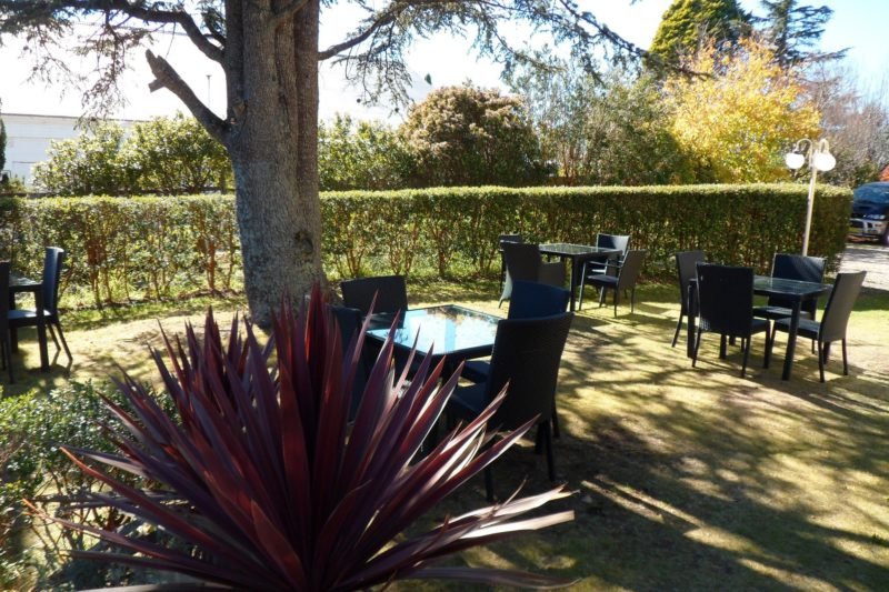 Enjoy summertime eating in one of the garden areas