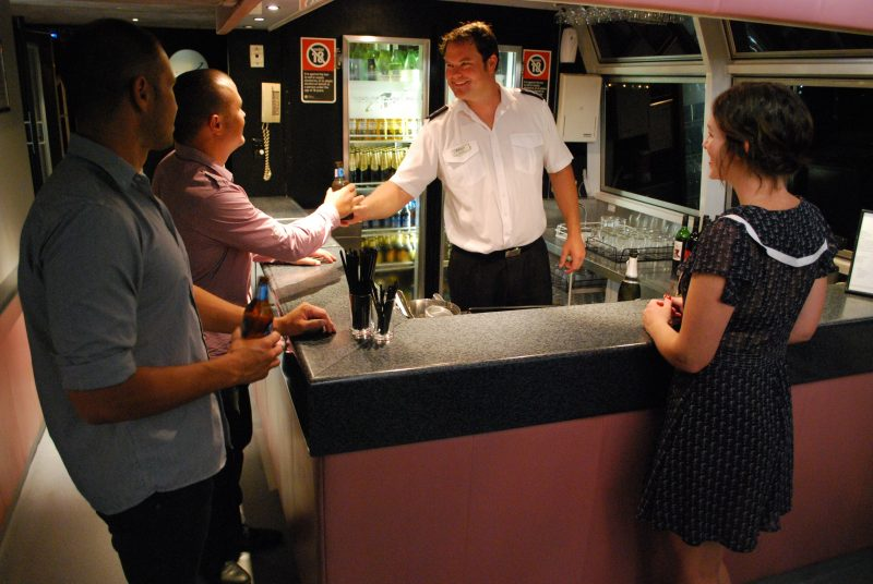 Fully licensed bar on board