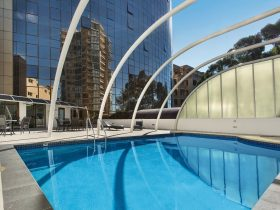 Novotel Sydney Parramatta outdoor pool and spa facilities
