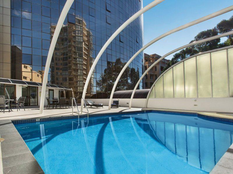 Novotel Sydney Parramatta outdoor pool and spa facilities