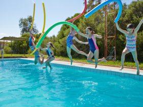 Swimming fun in Federation Shire