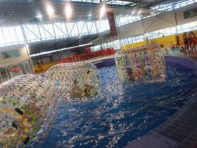 Water rollers at the Oasis Regional Aquatic Centre, Wagga Wagga