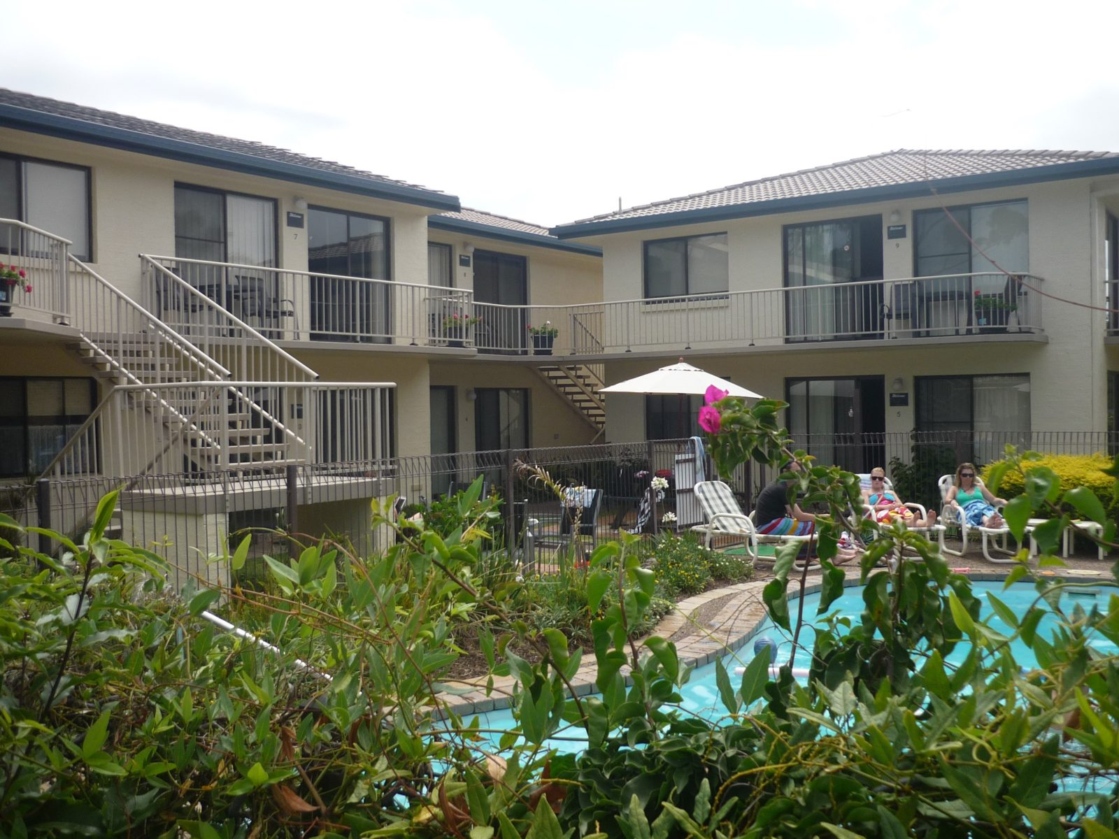 Outdoor area of units featuring the pool