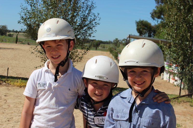 Children enjoying the school holiday program