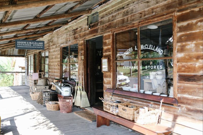 The timber facade of Odgers and McClelland Exchange Stores, Nundle.