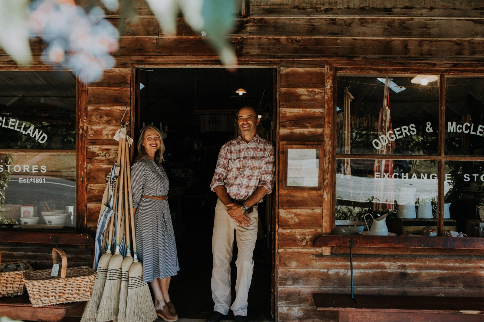 Odgers and McClelland Exchange Stores owners Megan and Duncan Trousdale.