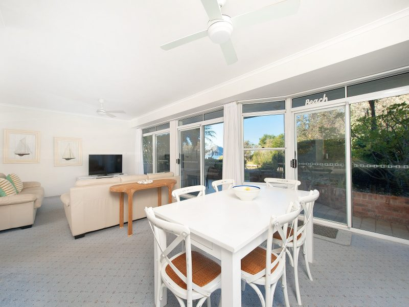 View from Kitchen of Dining and Lounge Area to East Balcony and Ocean