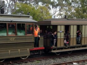 19th century Heritage Listed Steam Tram in operation