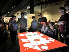 Interactive exhibit at Orange Regional Museum