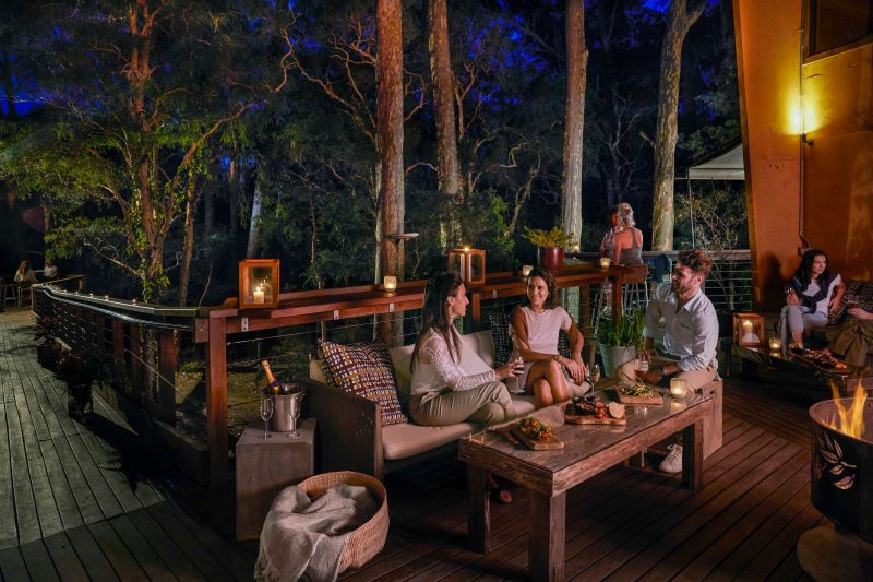Drinks and snacks amongst the treetops at The Gunyah