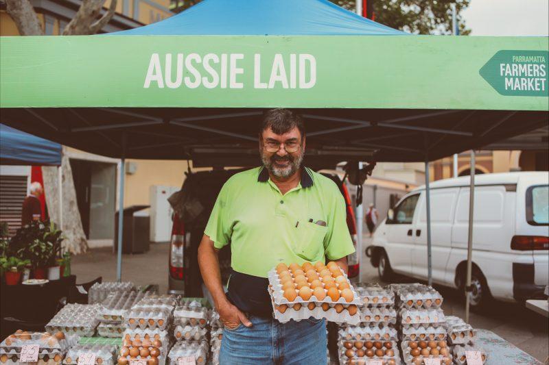 Farm fresh eggs stall