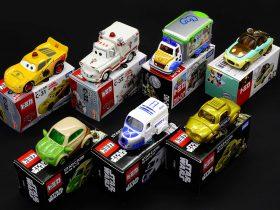 Model cars on display