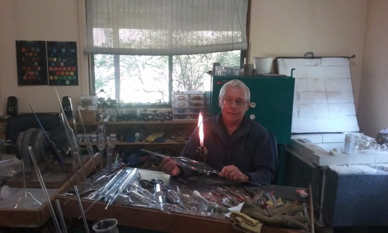 Peter Minson in his workshop