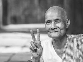 Portrait of a Cambodian Nun