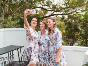 Ladies taking a selfie with phone