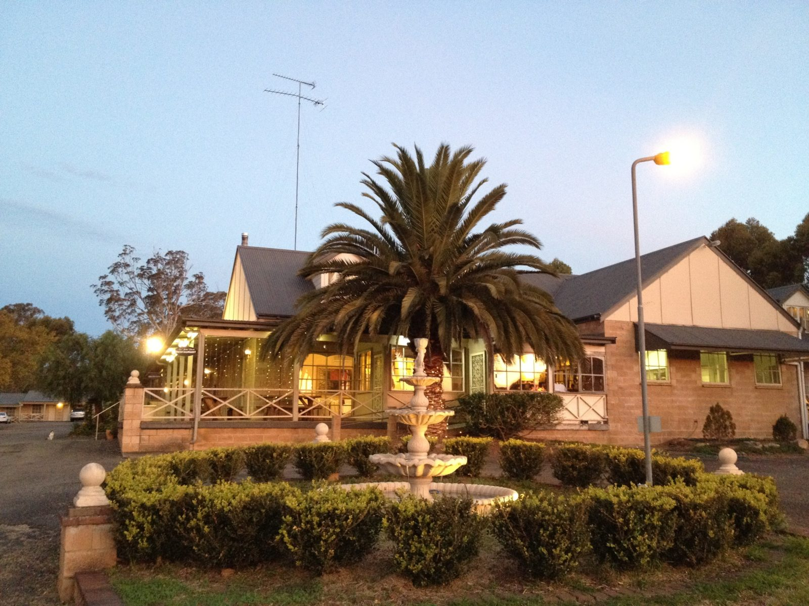 Federation style building on five acres of gardens