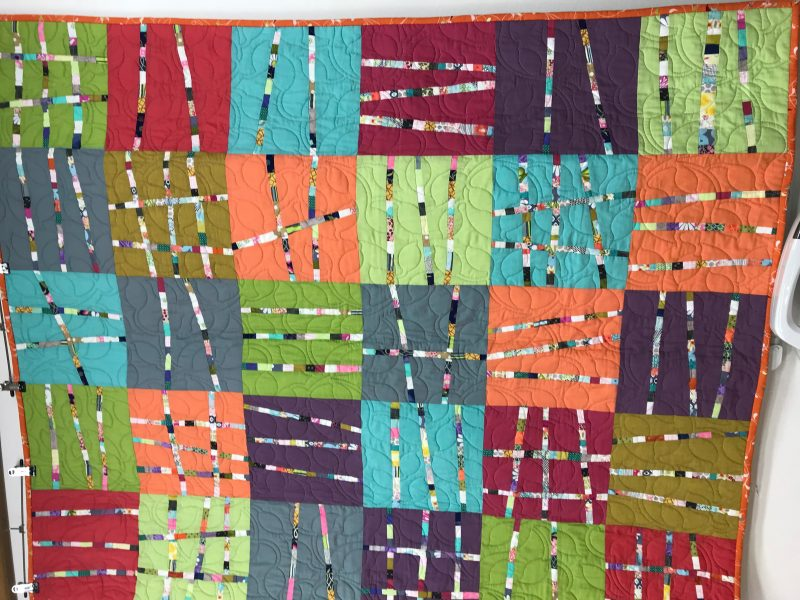Machine pieced and machine quilt made especially for someone in need