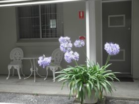 Verandah setting outside rooms